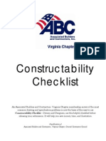 Constructability Checklist