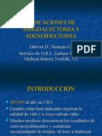 INDICACIONES DE AMIGDALECTOMIA Y ADENOIDECTOMIA