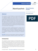 Antithyroid psychosis