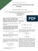 e6(Medida de Potencia y Correccion Del Factor de Potencia)