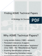 Finding ASME Technical Papers Slides