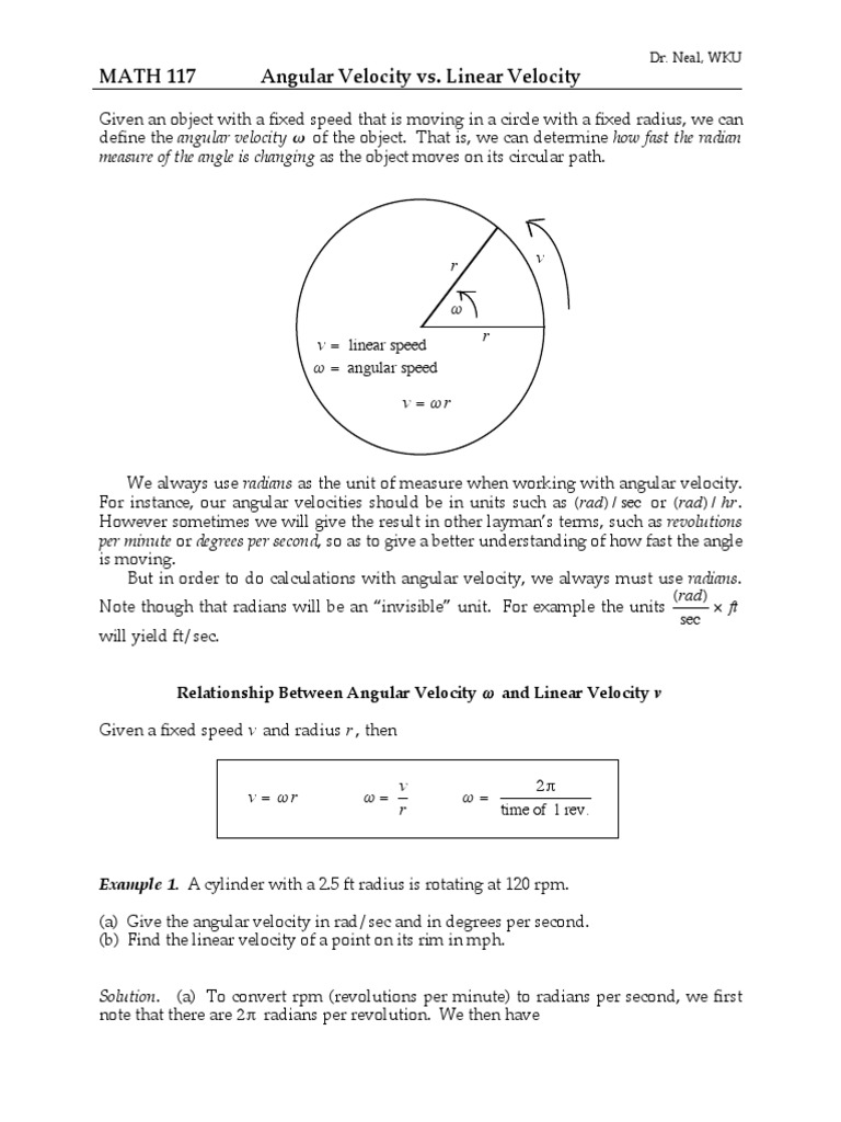 Angular Velocity Calcpdf Planets – Angular and Linear Velocity Worksheet