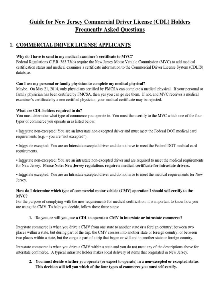 Certificado Medico Cdl Ejemplo Transport Government