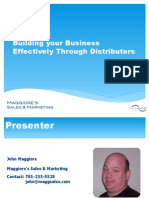 Building Your Business With Distributors