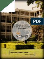 Final Placement Report 2014 SJMSoM IITBombay