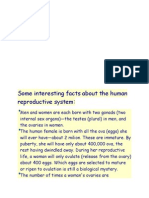 Some Interesting Facts About the Human Reproductive System