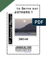Janakalyan 7 Annual Report 2003-04