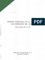 Álvarez Bolado 1956 - Exégesis Ontológica de La Primitiva Caracterización Del Dasein (Convivium 2)