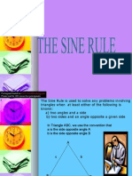 THE SINE AND COSINE RULE