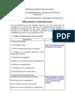 Bibliografía Complementaria Comunicación Oral y Escrit A