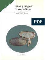 Amor López Jimeno, Textos Griegos de Maleficio