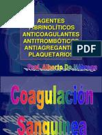 Agentes Fibrinolíticos, Anticoagulantes, Antitrombóticos y Antiagregantes Plaquetarios