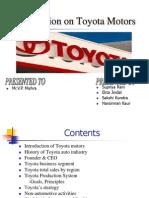 presentationontoyotamotors1-110914135400-phpapp02