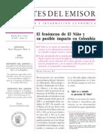 El Fenómeno de El Niño y Su Posibe Impacto en Colombia