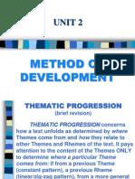Thematic Progression (Theme/Rheme)