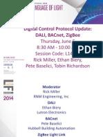 L14S30 - Digital Control Protocol Update BACnet DALI Zigbee (90 Minute)