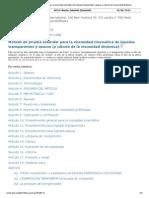 D445 Español Método de Prueba Estándar Para La Viscosidad Cinemática de Líquidos Transparentes y Opacos
