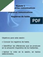 Registros de Habla
