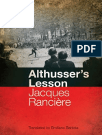Jacques Ranciere (1974) Althusser's Lesson