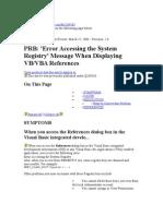 Error Accessing System Registry (Visual Basic )