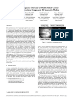 A 2D-3D Integrated Interface for Mobile Robot Control Using Omnidirectional Images and 3D Geometric Models