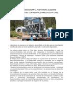 Biocombustible Con Residuos Forestales en Chile