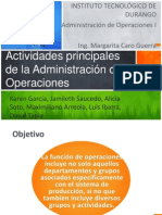 Admon de Operaciones