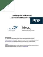 Creating and Monitoring a Diversified Stock Portfolio