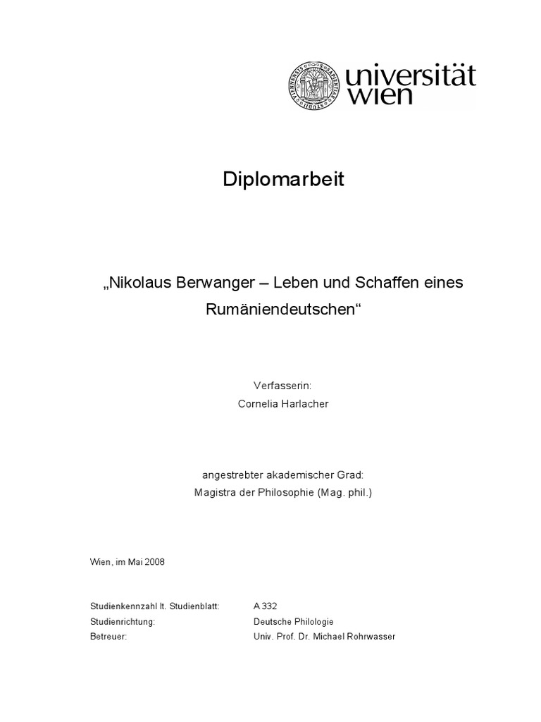 Harlacher: Nikolaus Berwanger – Leben und Schaffen eines ...