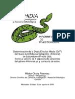 Determinacion de La Dosis Efectiva Media Del Suero Antiofidico Antielapidico de Laboratorios Probiol Ltda.