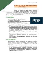 Capitulo I - Clasificacion de Materiales