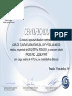 Certificado Processo Legislativo