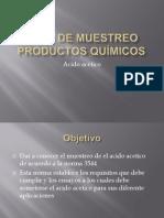 Plan de Muestreo Productos Químicos