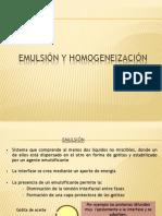Emulsion y Homogenización
