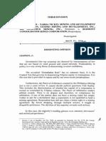 Nara Nickel Mining v. Redmont (Dissent by Justice Leonen)