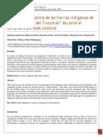 Albeck y Palomeque, 2009. Ocupación Española de Las Tierras Indígenas de La Puna y Raya Del Tucumán Durante El Temprano Período Colonial