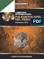 13 Simposium Paleontologia 2013