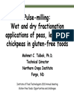Gluten Free Pulse Milling Wet and Dry Fractionation Applications of Peas Lentils and Chickpeas in Gluten Free Foods