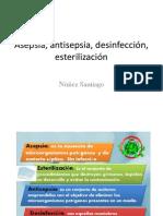 Asepsia, Antisepsia, Desinfección, Esterilización