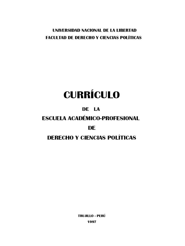 Curriculo Escuela Derecho Unt