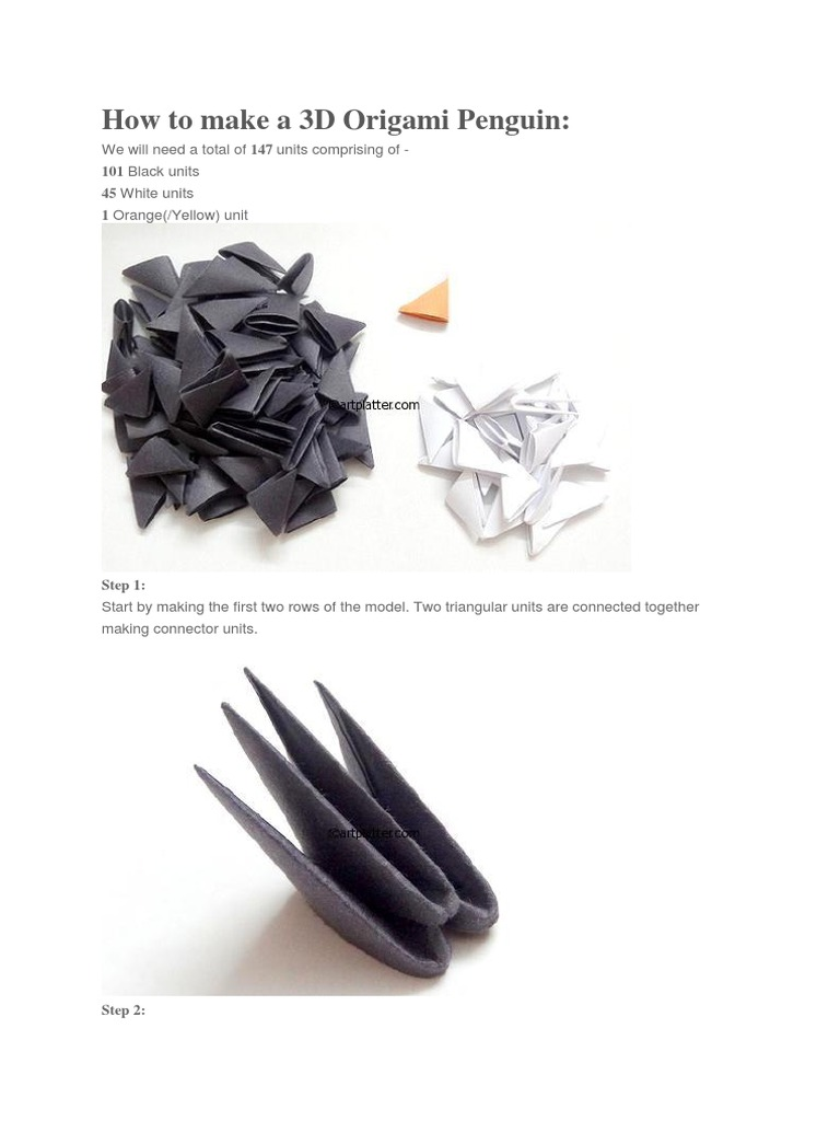 How To Make A Origami Penguin