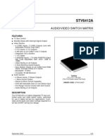 Audio/Video Switch Matrix