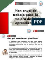 Plan Anual de Mejora de Los Aprendizajes 2