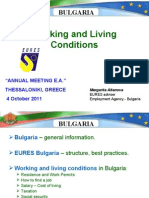 Working & Living Conditions in Bulgaria