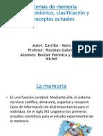 Sistemas de Memoria Reseña Histórica, Clasificación y Conceptos Actuales