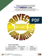 Proyecto Cancha Deportiva de Usos Multiples
