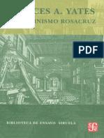 El Iluminismo Rosacruz - Frances Amelia Yates
