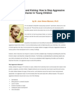 how to handle childrens aggresive behavior