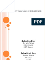 Largest Common Subsequence