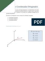 Sistemas de Coordenadas Ortogonales